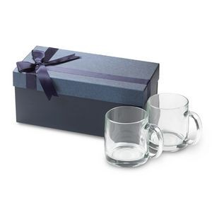 13 Oz. Nordic Clear Glass Mugs w/Gift Box (Set of 2)